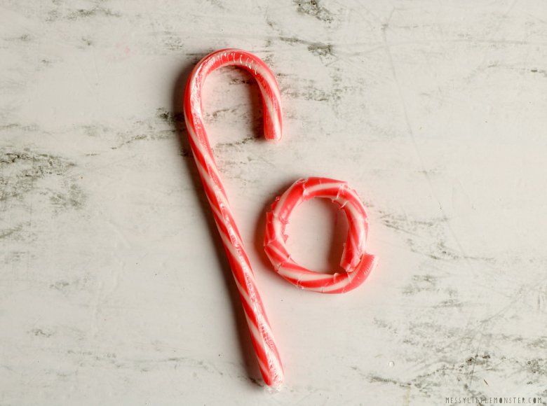 melting candy cane experiment