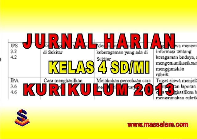 Download Kumpulan Jurnal Kelas 4 Semeter 1 dan Semester 2 Kurikulum 2013 Revisi Terbaru