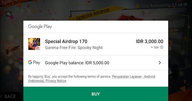 Cara Mendapatkan Spesial Air Drop 3000 di Bulan November 2019