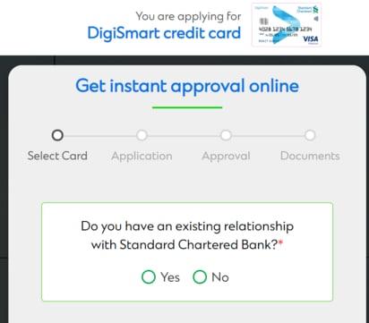 Digi Smart Credit Card Apply