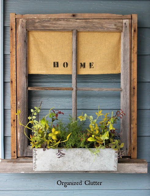 Weathered Window Frame Planter