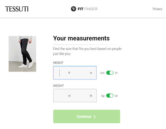 Tessuti Fit Finder