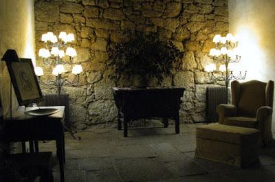 espaço  de descanço na Pousada do Convento em Belmonte