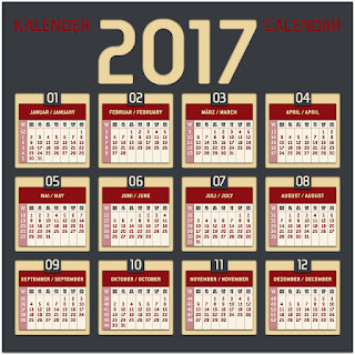 2017カレンダー無料テンプレート55