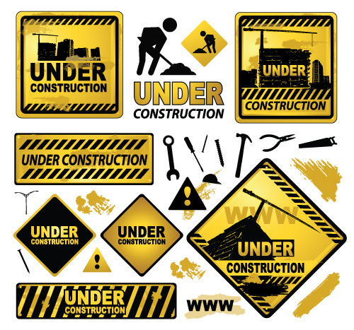 Quality Graphic Resources: Under-construction Signs