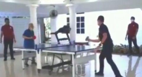 Main Tenis Meja Lawan Paspampres, Kiai Ma'ruf: Saya Lupa Cara Smash
