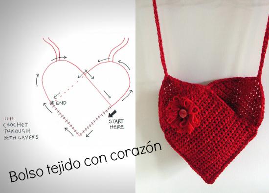 Bolso con forma de corazon para San Valentin