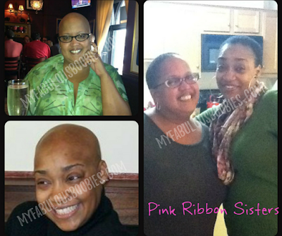 two breast cancer survivors, african-american women, bald-heads, short hair, natural hair | MyFabulousBoobies.com