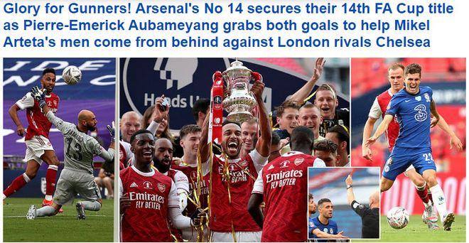 Arsenal vô địch FA Cup: Người hùng Aubameyang bùng nổ, báo chí Anh ngả mũ 4