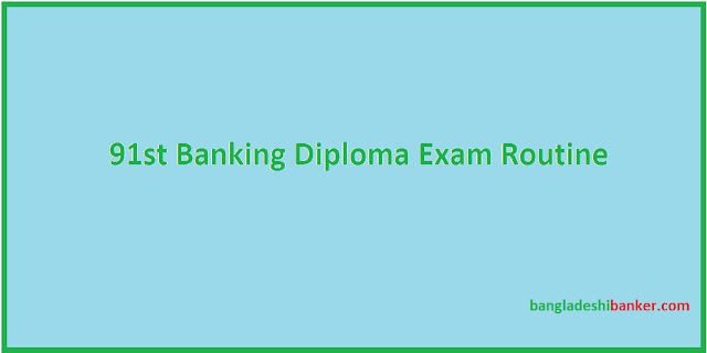 91st Banking Diploma Exam Routine Published