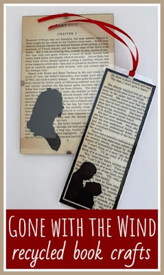 Recycled book crafts using Gone with the Wind