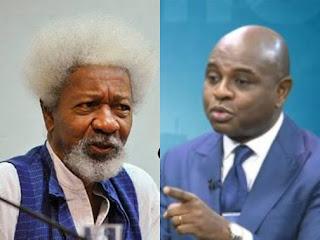 Prof. Wole Soyinka and Prof. Kingsley Moghalu