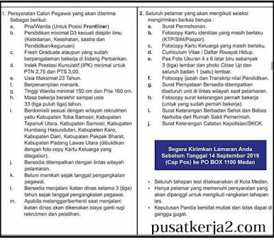 Rekrutmen Terbaru Sumatera Utara September 2019