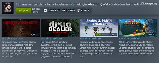 Steam Alaattin Çağıl Küratör Sayfası