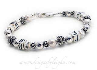 This is a Sterling Silver & Bali WWJD Bracelet.