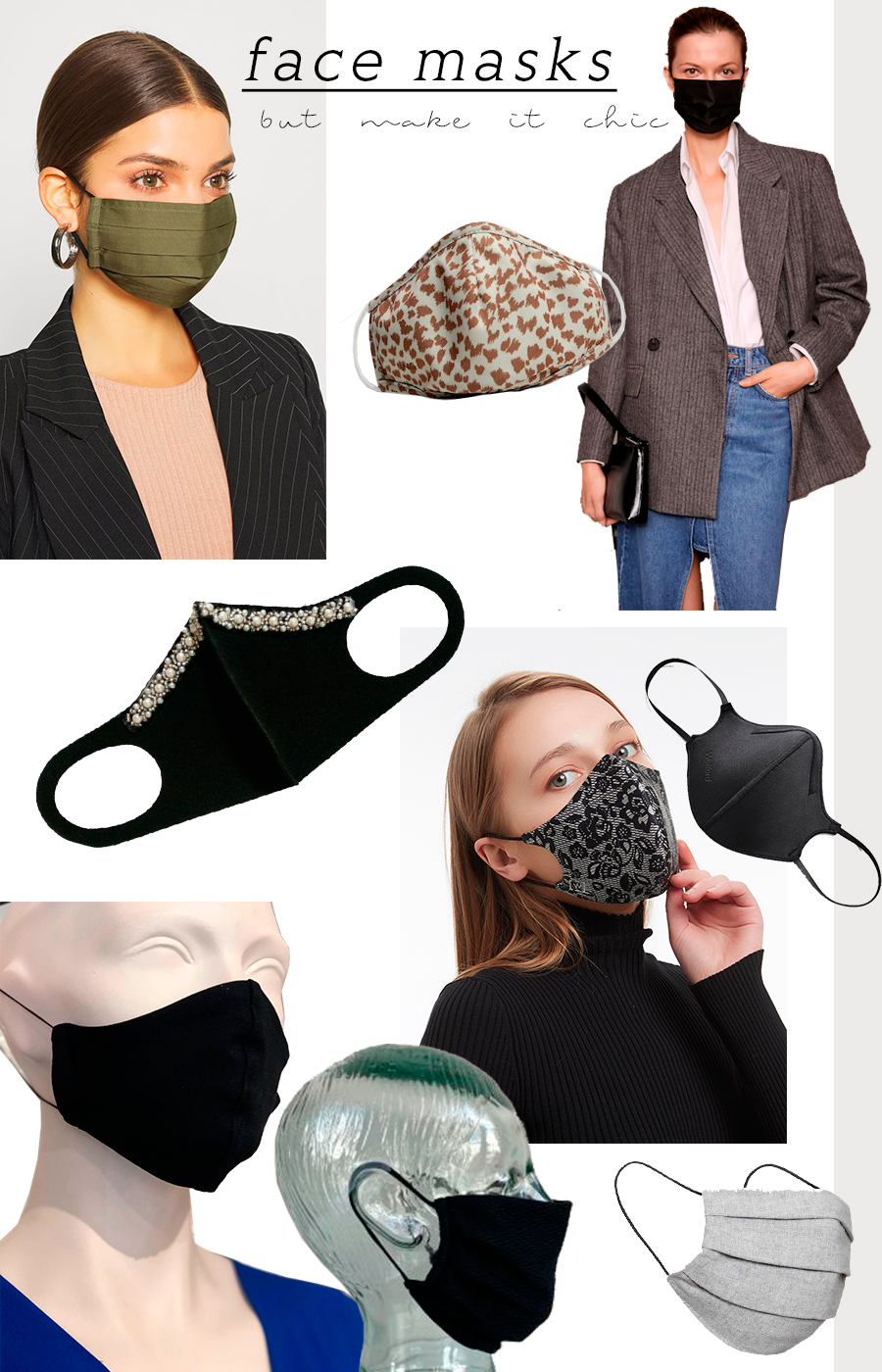 Tyylikkäät kasvomaskit // stylish and fashionable face masks
