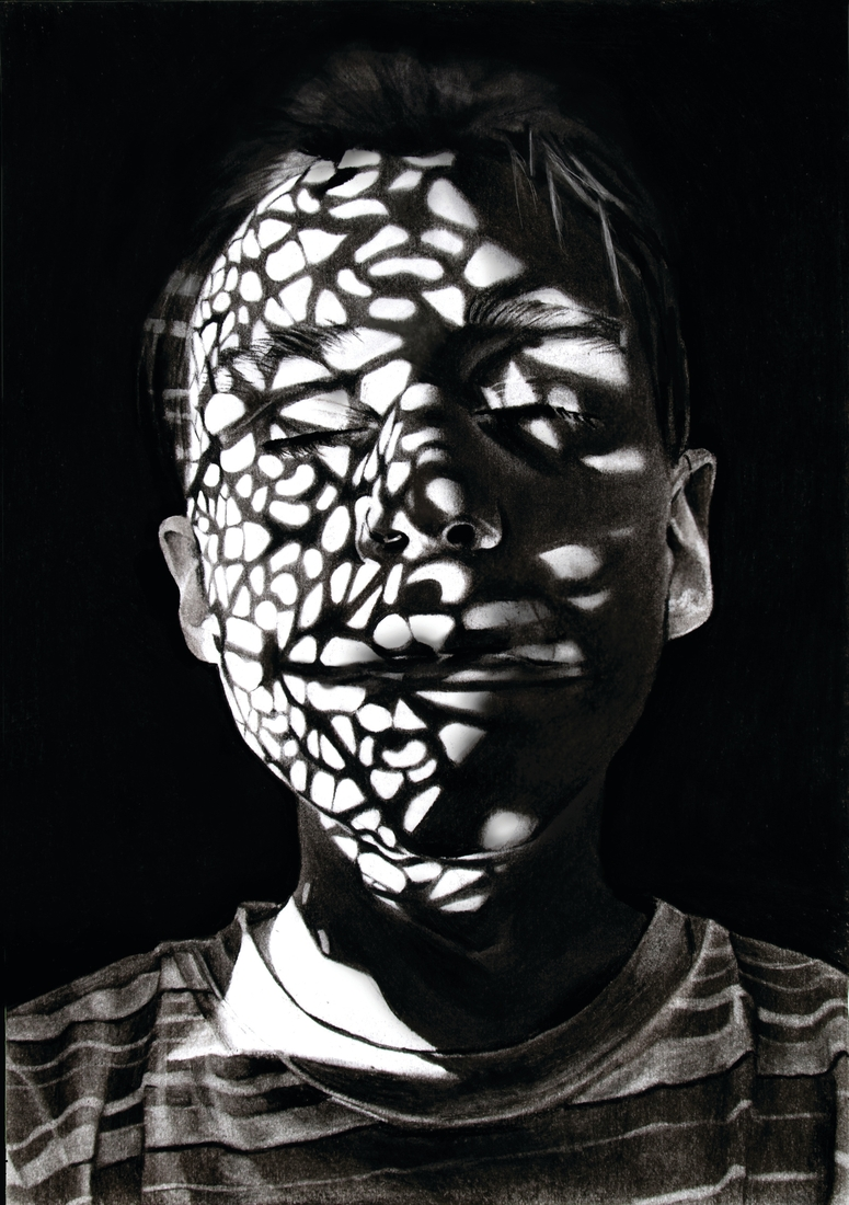 06-Dylan-Andrew-Shadows-and-Textures-Interacting-with-Charcoal-Drawings-www-designstack-co