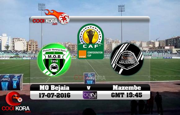 مشاهدة مباراة مولودية بجاية و مازيمبي اليوم 17-7-2016 كأس الإتحاد الأفريقي