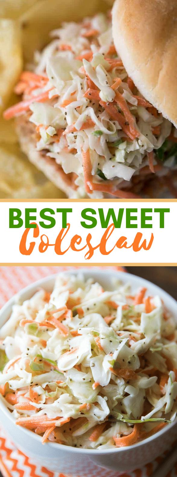 BEST SWEET COLESLAW #vegetarian #salad