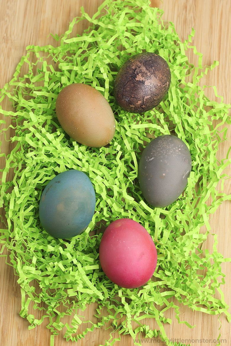 Easter egg decorating ideas - natural dye