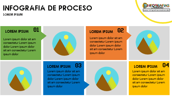 Plantilla para infografía en Word modelo 22