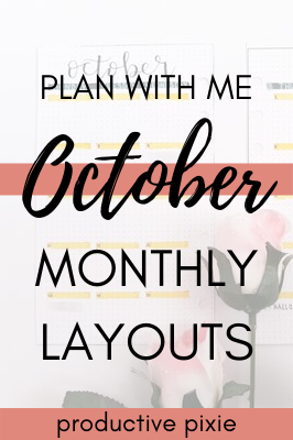 Plan With Me October Bullet Journal Layouts