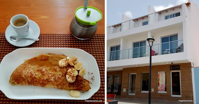Café da manhã na Lanchonete Sparkle, em Santa Maria, Ilha do Sal