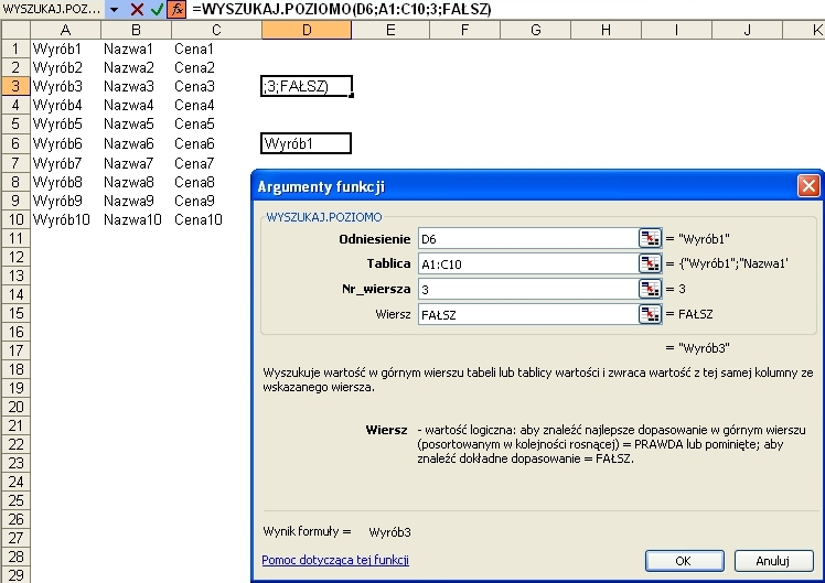 Extremum Excel Wyszukajpoziomo