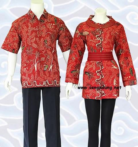 Baju Batik Terbaru Muslim Couple Pria Wanita Model Foto: Baju Batik Couple Modern Terbaru Murah Online