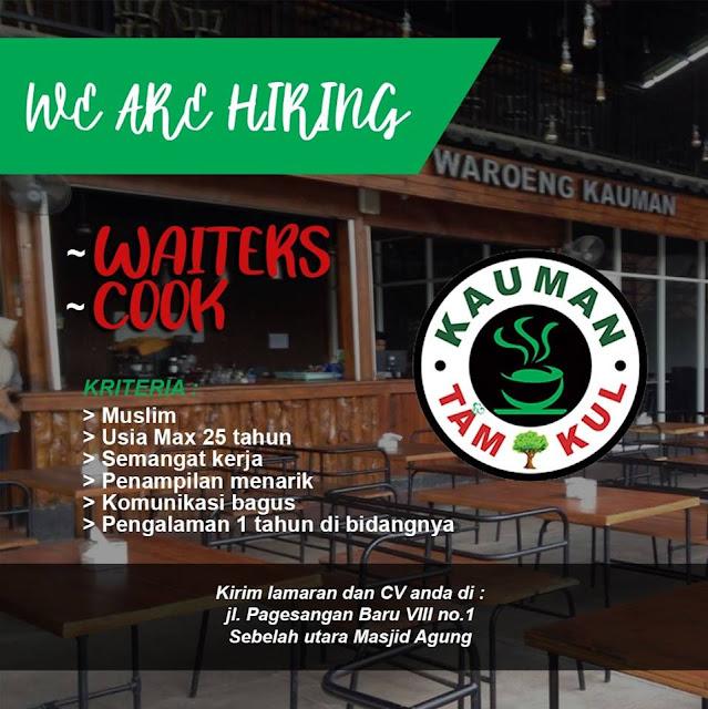 lowongan kerja waiters dan cook warung kauman surabaya
