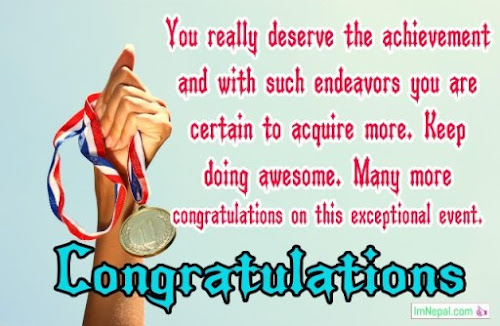 Congratulations Message For Award.