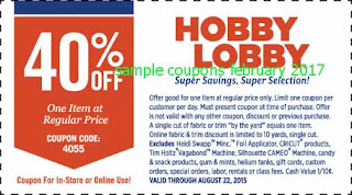free Hobby Lobby coupons for february 2017