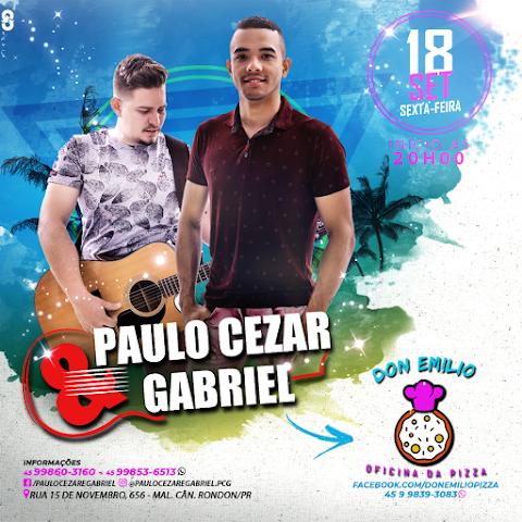 FLYER PARA PAULO CEZAR & GABRIEL