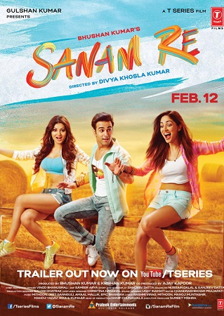 Poster Of Sanam Re 2016 Hindi 700MB pDVD Xvid Watch Online