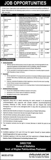 Bureau Of Statistics KPK Jobs 2020 Public Sector Organization Khyber Pakhtunkhwa jobs 2020