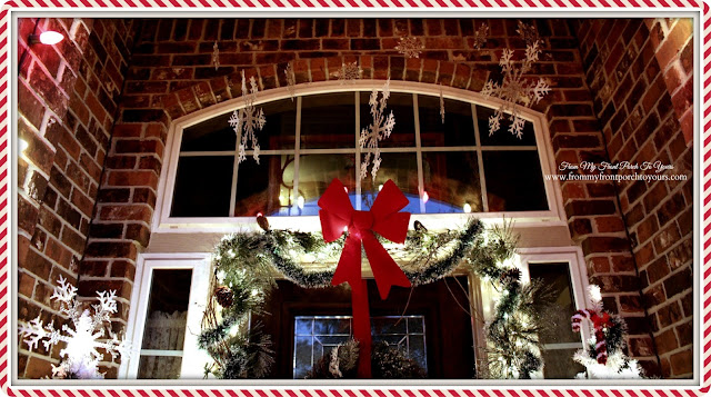 Snowflakes At Night-Christmas Front Porch-From My Front Porch To Yours