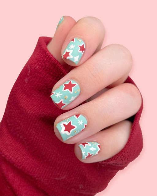 Christmas Star Nail Art 25 Sweetpeas