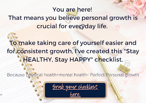 personal growth checklist