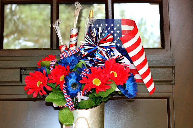 DIY Thrifty Patriotic Door Decor For The 4th Of July At Home With Jemma