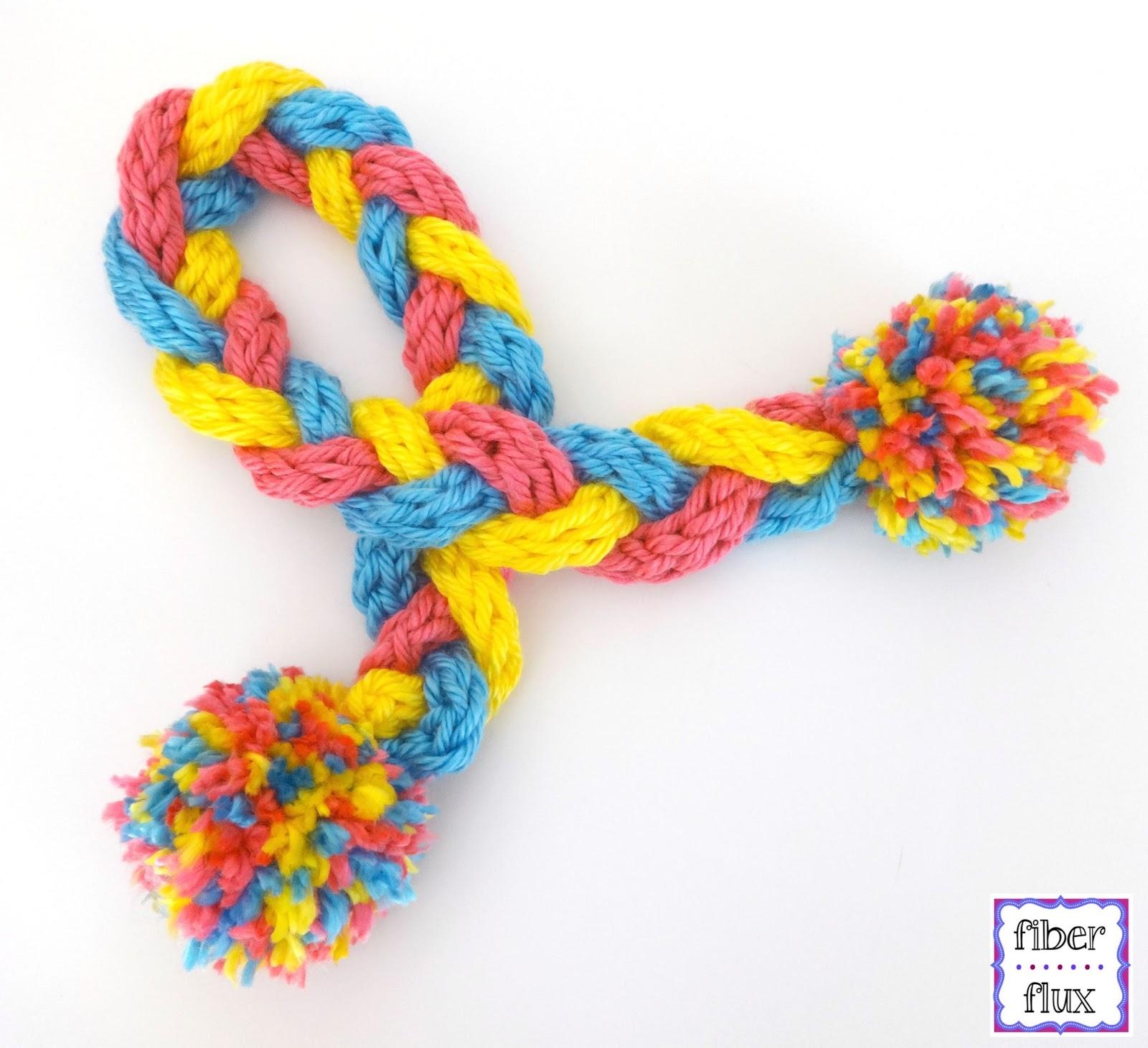Fiber Flux Finger Knit Braid Scarf For Kids