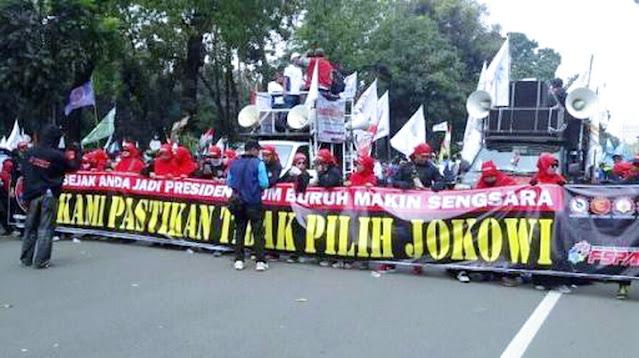 Gak Peduli, Pokoknya 5 Hari Berturut-turut, Buruh Kepung Istana Jokowi