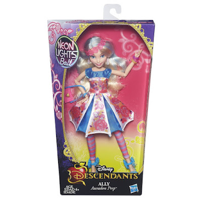 TOYS : JUGUETES - DISNEY Los Descendientes  Neon Lights Ball - Ally : Auradon Prep  Muñeca - doll | Descendants  Hasbro B6862 | A partir de 6 años  Comprar en Amazon España & buy Amazon USA