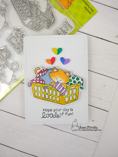 Loads of Fun a card by Diane Morales | Newton Cleans Up Stamp set by Newton's Nook Designs