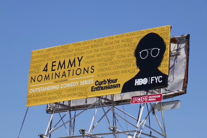 Curb Your Enthusiasm 2020 Emmy nominee billboard