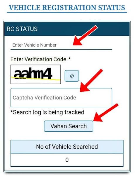 Check Vehicle Regitrtion Status