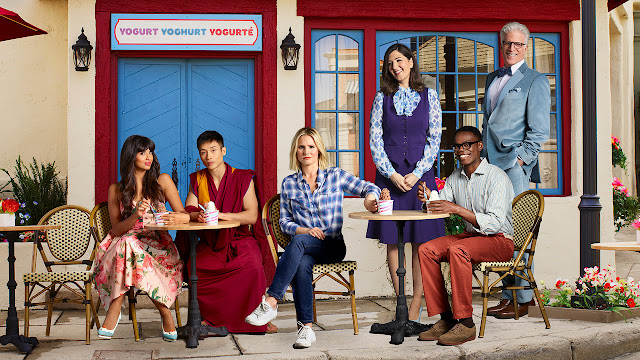 Personagens de The Good Place - Tahani, Jason, Eleanor, Janet, Chidi e Michael
