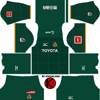 Nagoya Grampus 名古屋グランパス kits 2017 - Dream League Soccer