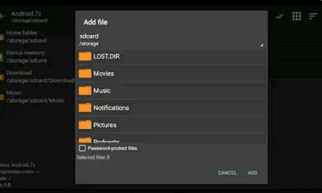 تطبيق ZArchiver النسخة المدفوعة لفك الضغط