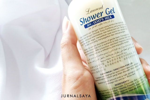 review laurent shower gel