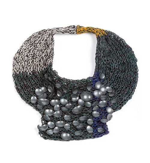 Hand Knitted Leather Jewelry By Brooke Marks Swanson